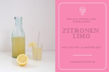 ein einfaches Rezeot für eine schnelle, selbstgemachte Zitronenlimonade